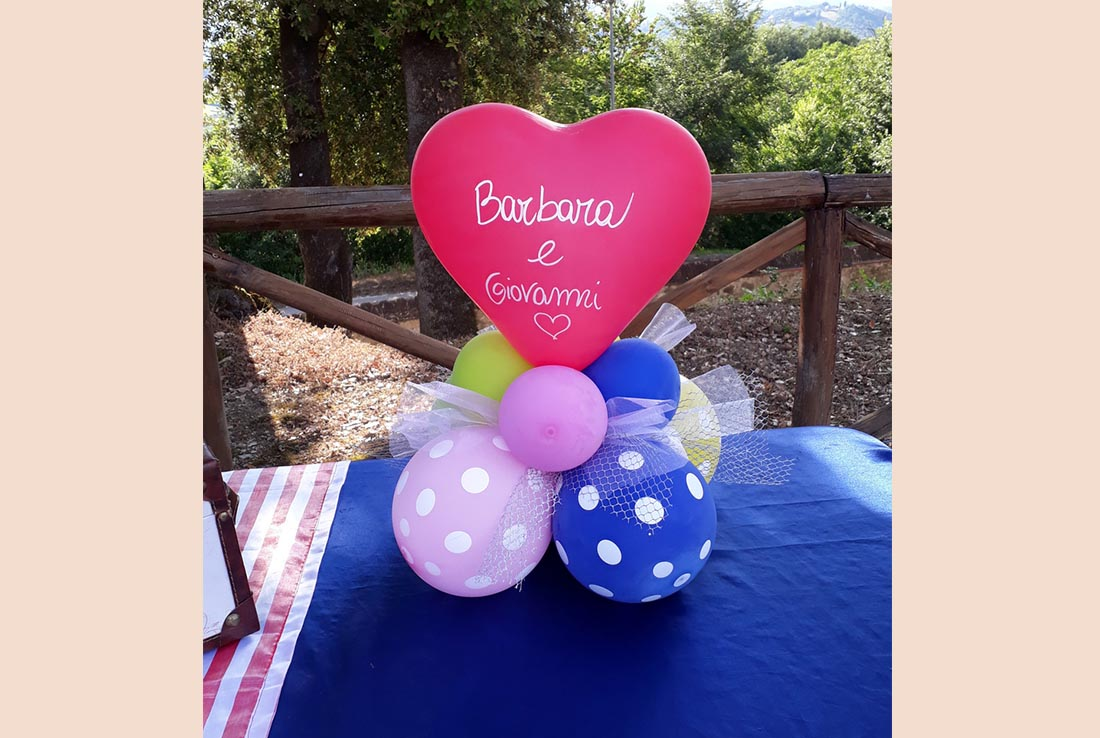 centrotavola palloncini per animazione bambini per matrimoni