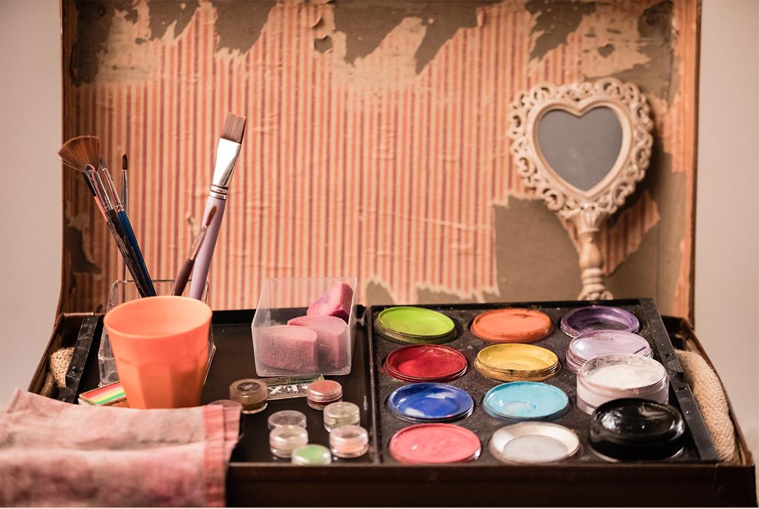 tavolozza colori facepainting